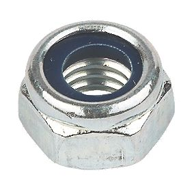 Nylon Lock Nuts BZP M12 Pack of 50