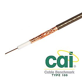 Labgear PF100 Satellite Coaxial Cable 50m Brown