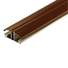 Corotherm Glazing Bar Brown 4m