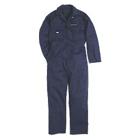 "Dickies Proban Fire Retardant Coverall Navy Large 38-40"" Chest 32"" L"