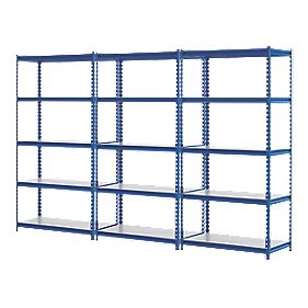 3 Shelving Bays Blue 923 x 466 x 1830mm