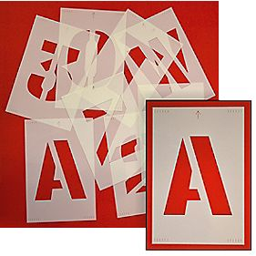 Letter & Number Stencil Pack 265 x 180mm Pack of 36