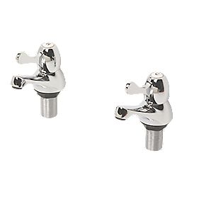 H and C Lever Bath Taps