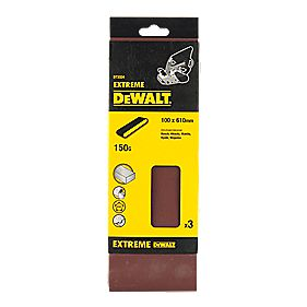 DeWalt 100 x 610mm 150 Grit Sanding Belts Pack of 3