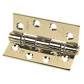 Fire Door Hinge Grade 13 Electro-Brass Stainless Steel 102 x 76mm Pack of 3