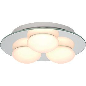 Masterlite Agra Triple Bathroom Ceiling Light Mirrored Glass 25W