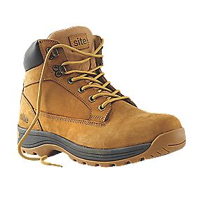 Site Milestone Safety Boots Honey Size 8
