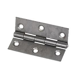 Steel Fixed Pin Hinges Self-Colour 65 x 44 x 1mm Pack of 20