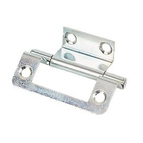 Steel Double Cranked Hinges Zinc-Plated 50mm Pack of 2