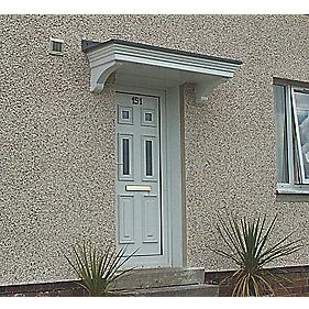 Orkney Door Canopy Grey 1600 x 560 x 520mm