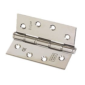 Washered Fire Hinge Grade 7 Polished Stainless Steel 102 x 76mm Pack of 2