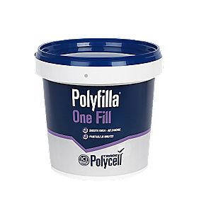 Polycell Polyfilla Trade One Fill Tub White 1Ltr