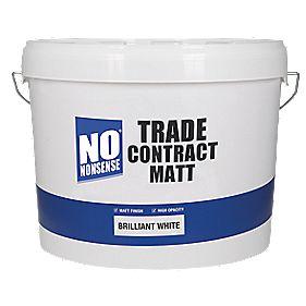 No Nonsense Trade Contract Matt Emulsion Paint Brilliant White 10Ltr