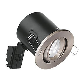 Aurora 30, 60 & 90min Fire Rated Adjustable LED Downlight IP20 Satin Nickel 50W