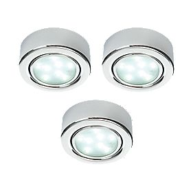 LAP Danube Integrated LED Cabinet Downlight Chrome 1.8W Pack of 3