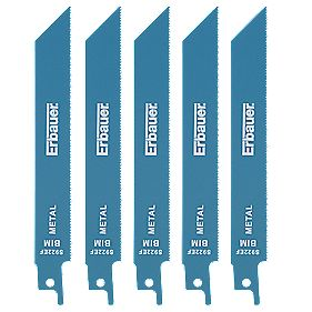 Erbauer Metal Reciprocating Saw Blades 150mm Pack of 5