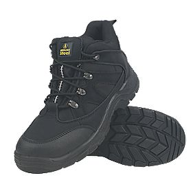 Amblers Steel Lightweight Hiker Safety Boots Black Size 7