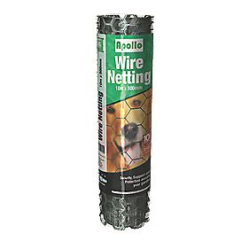 Apollo 50mm Galvanised Wire Netting 0.6 x 50m