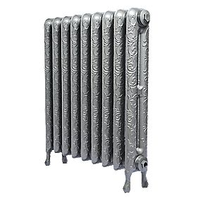 Cast Iron Art Nouveau 750 Designer Radiator Gun Metal Grey 750 x 673mm
