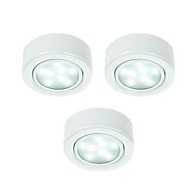 LAP Danube Integrated LED Cabinet Downlight White 1.8W Pack of 3