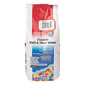 Mapei BuildFix Flexible Wall & Floor Grout Medium Grey 2.5kg
