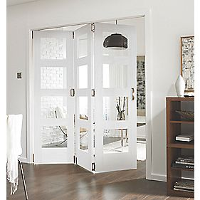 Jeld-Wen Shaker Stile & Rail 4 Panel Interior Room Divider Primed 2044 x 1939mm