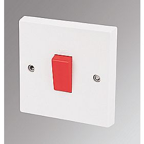 Marbo 1-Gang 45A DP Cooker / Shower Switch White