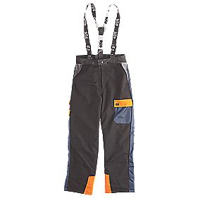 "Site Chainsaw Trousers Black/Blue Medium 31"" (79cm) Leg 36"" (91cm) Waist"
