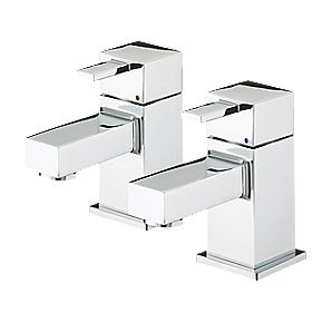 Bristan Quadrato Bath Pillar Taps Pair