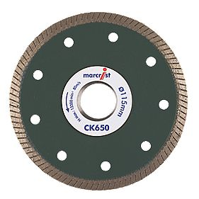 Marcrist CK650 Tile Cutting Diamond Blade 115 x 22.23mm