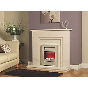 Be Modern Iris Limestone Fire Surround