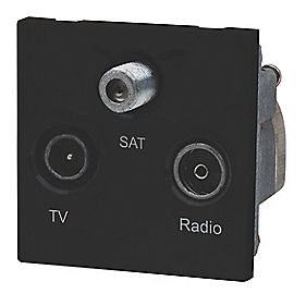 LAP TV, FM & Satellite Screened Triplex Grid Module Black