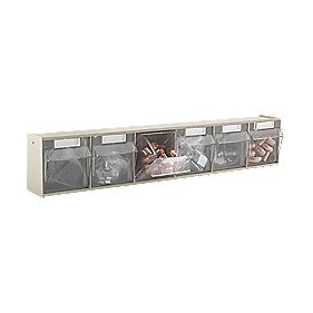 Wall Mounted Clearbox 6 Compartment Unit Pack of 2