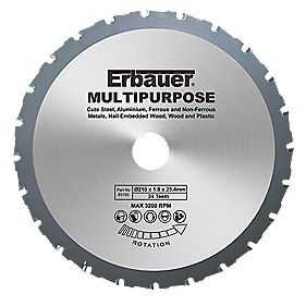 Erbauer Multipurpose Saw Blade 24-Tooth 210mm