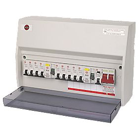 Wylex 10-Way High Integrity Consumer Unit with 9 MCBs & 1 RCBO