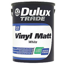 Dulux Trade Vinyl Matt White 5Ltr