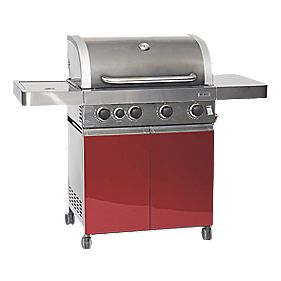 Grillstream Gourmet 4-Burner Gas Barbecue with Side Burner