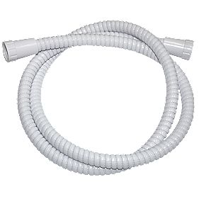 Swirl Shower Hose Flexible White 13mm x 1.5m
