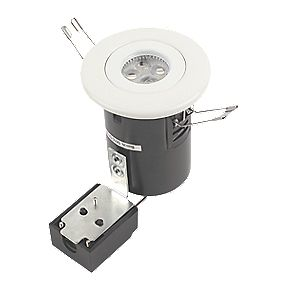 JCC Lighting Fire Rated Fixed LED Downlight IP20 White 5W
