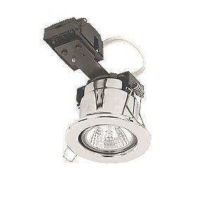 Linolite:Sylvania Fixed Round Pol Chr 12V Low Voltage Fire Rated Downlight