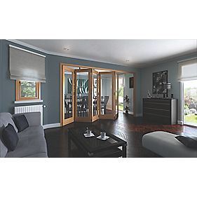 Jeld-Wen Shaker Solid 1 Panel Interior Room Divider Oak Veneer 2044 x 3164mm