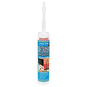 Evo-Stik Shower Bath & Kitchen Sealant Clear 310ml