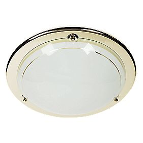 70700/28/01 Circular Ceiling Light Brass 28W