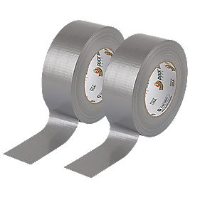 Duck Original Cloth Tape 50 Mesh Silver 50mm x 50m Pack of 2