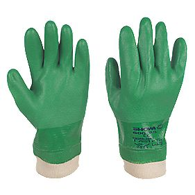 Showa Best 600 Landscaping & Gardening PVC Waterproof Gloves Green Large