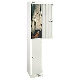 Security Locker 2 Door Grey
