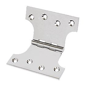 Parliament Hinges Polished Chrome 125 x 102mm Pack of 2