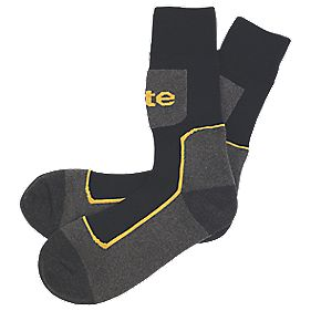 Site Comfort Work Socks 3 Pairs Black/Grey Black / Grey Size 7-11