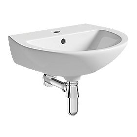 Wall-Hung Cloakroom Basin 1 Tap Hole 450mm