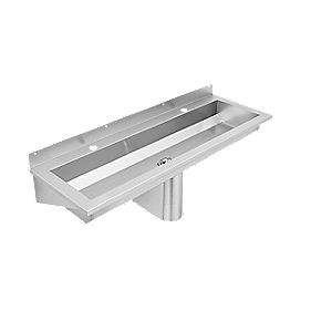 Franke Saturn Washtrough with Tap Deck Stainless Steel 2 Tap Holes 1200mm